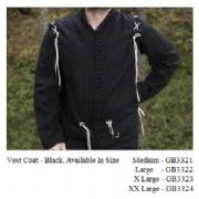 Pure Wool Medieval / Renaissance Vest Coat - 3 Colours